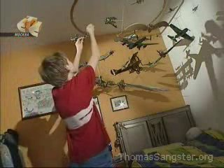 Thomas and his model airplanes